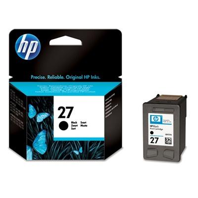 HP 27 Black Ink Cart, 10 ml, C8727AE