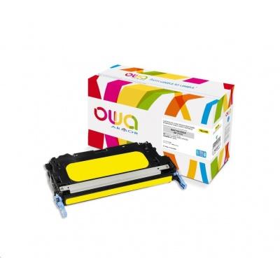 OWA Armor toner pro HP Color Laserjet 3600 CP3505, 8000 Stran, Q6472A JUMBO, žlutá/yellow