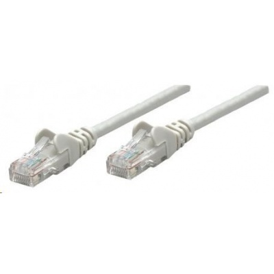 Intellinet patch kabel, Cat6A Certified, CU, SFTP, LSOH, RJ45, 0.5 m, šedý