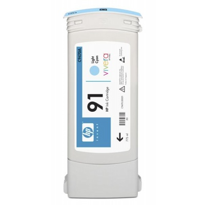 HP 91 Light Cyan DJ Ink Cart, 775 ml, C9470A