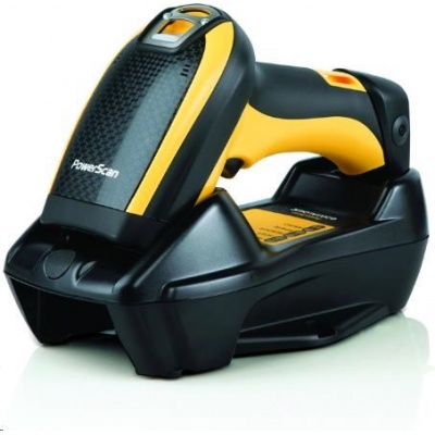 Datalogic PowerScan PM9300, 1D, AR, kit (USB), RB, black, žlutá