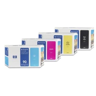 HP 90 Cyan DJ Ink Cart, 400 ml, C5061A
