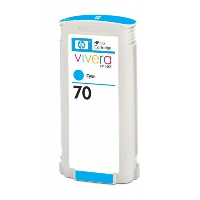 HP 70 Cyan DJ Ink Cart, 130 ml, C9452A