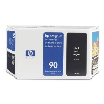 HP 90 Black DJ Ink Cart, 400 ml, C5058A