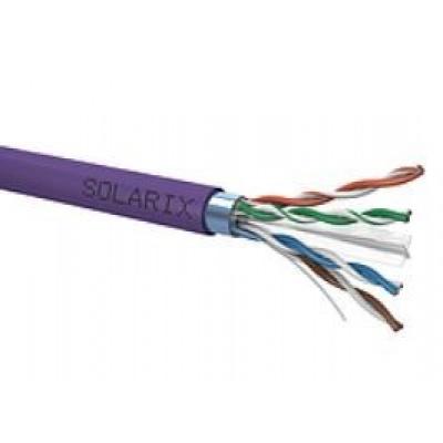 Instalační kabel Solarix FTP, Cat6, drát, LSOH, cívka 500m SXKD-6-FTP-LSOH
