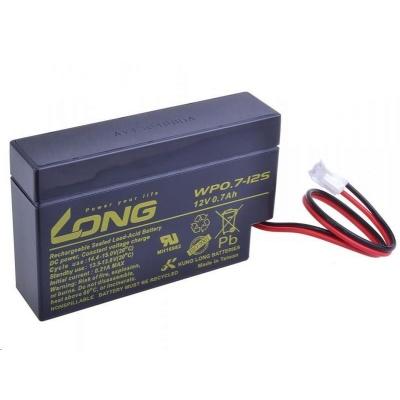 Long 12V 0,7Ah olověný akumulátor JST