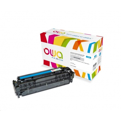 OWA Armor toner pro HP Color Laserjet Pro300 M351, M375, Pro400 M451, M475, 2600 Stran, CE411A, modrá/cyan
