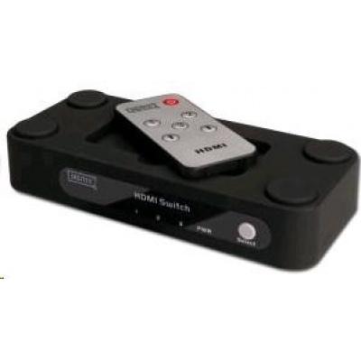 PREMIUMCORD HDMI switch 3:1 s dálkovým ovládáním