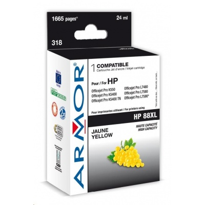 ARMOR cartridge pro HP Officejet K550 yellow HC, 20 ml (C9393A)