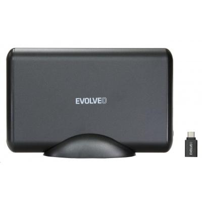 """EVOLVEO 3.5"""" Tiny 5, 10Gb/s, externí rámeček na HDD, USB 3.1 A + redukce USB 3.1 A/USB C"""