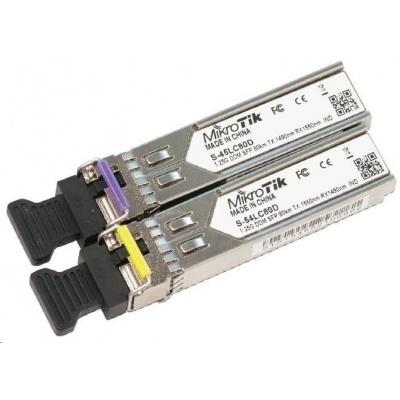 MikroTik SFP (miniGBIC) modul S-45/54LC80D, SM, 80km, 1.25G (pár)