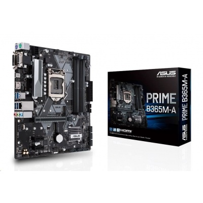 ASUS MB Sc LGA1151 PRIME B365M-A, Intel B365, 4xDDR4, 1xDVI, 1xHDMI, 1xVGA, mATX