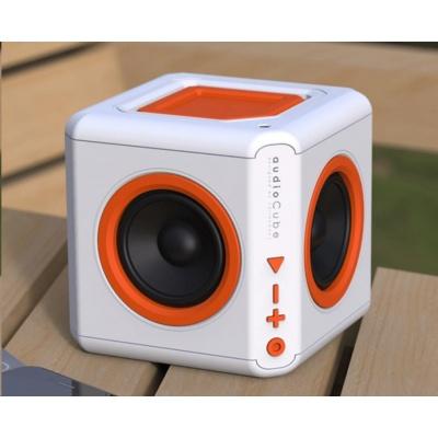 Allocacoc Audiocube Portable, white/orange