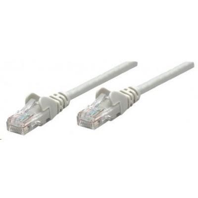 Intellinet patch kabel, Cat6 Certified, CU, UTP, PVC, RJ45, 50m, šedý