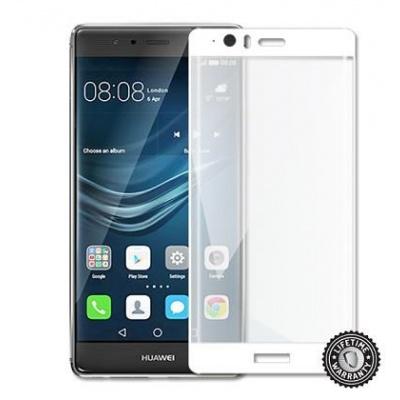 ScreenShield ochrana displeje Tempered Glass pro Huawei P9 Plus VIE-L09, kovový rámeček, bílá